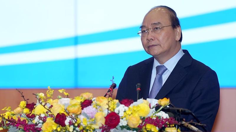 """""""Chúng ta đang nói đến khát vọng hùng cường của Việt Nam, vậy thì ngành tài chính với 7 vạn người đóng góp vào sự khát vọng này như thế nào?"""", Thủ tướng đặt câu hỏi - Ảnh: Quang Phúc"""