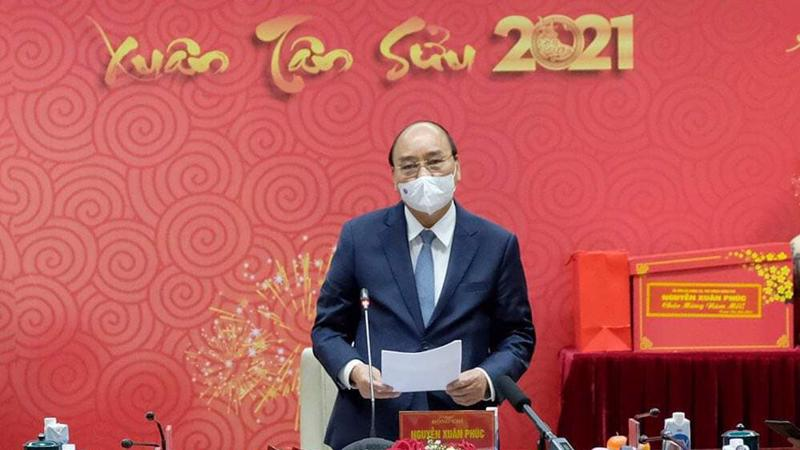 Thủ tướng Chính phủ tại cuộc gặp mặt với Bộ Y tế chiều 9/2. Ảnh - Trần Minh.