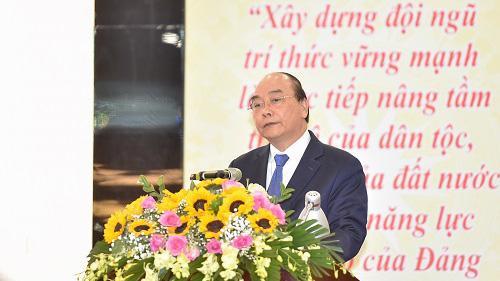 Thủ tướng Nguyễn Xuân Phúc phát biểu tại Đại hội - Ảnh: VGP/Quang Hiếu