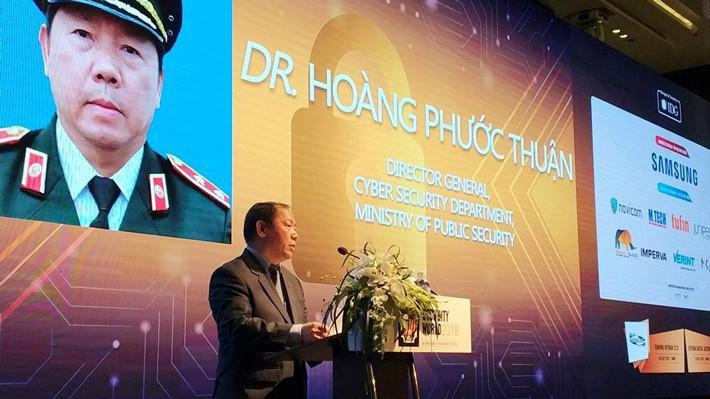 Trung tướng Hoàng Phước Thuận, Cục trưởng Cục An ninh mạng (Bộ Công an) - Ảnh: Đ.Hiệp.