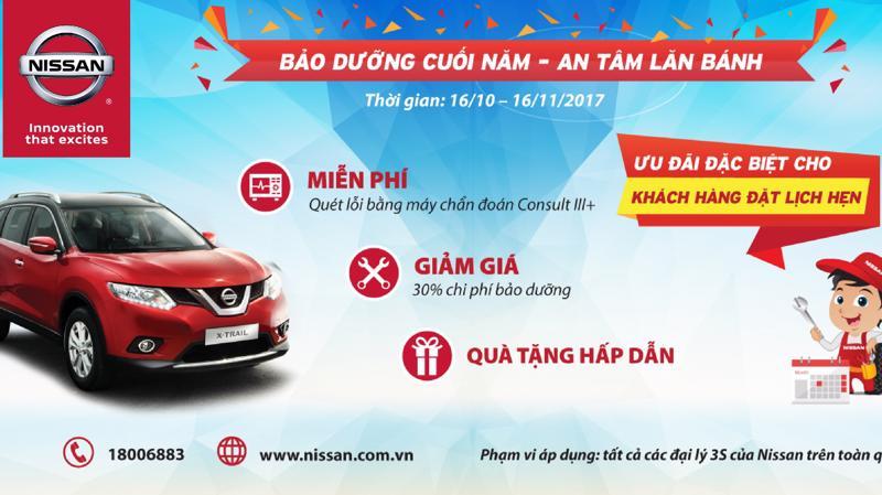 Chương trình này nằm trong chuỗi các hoạt động tri ân khách hàng của Nissan Việt Nam trong năm 2017.