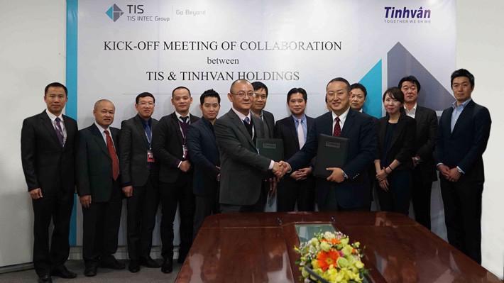 Lễ khởi động hợp tác kinh doanh giữa TIS và Tinh Vân.