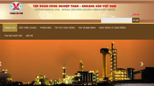 Trang web của Tập đoàn Công nghiệp Than Khoáng sản Việt Nam – Vinacomin.