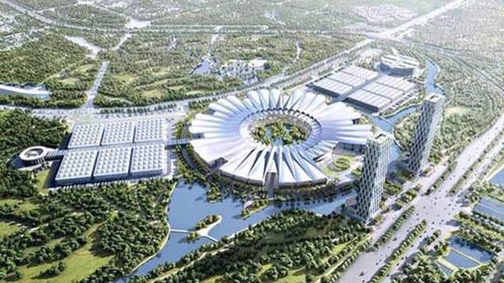 Phối cảnh thiết kế Trung tâm Hội chợ triển lãm quốc gia tại huyện Đông Anh - Hà Nội.