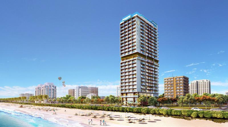 TMS Luxury Hotel Danang Beach có vị trí vàng cuối cùng bên bờ biển Mỹ Khê, Đà Nẵng.