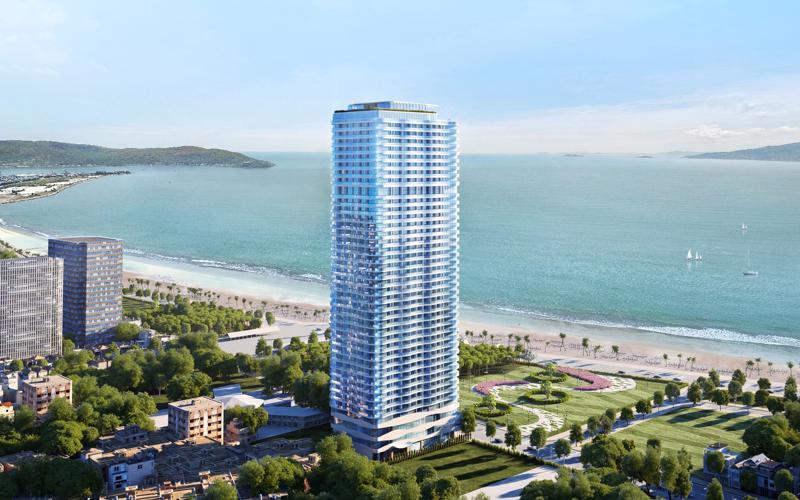 Phối cảnh thiết kế tổ hợp khách sạn và căn hộ du lịch 5 sao TMS Luxury Hotel & Residences Quy Nhon.