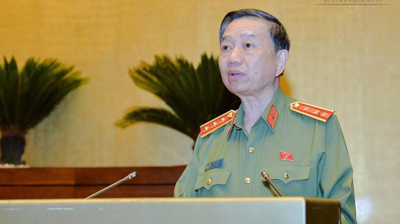 Bộ trưởng Bộ Công an Tô Lâm trình dự án Luật Công an nhân dân (sửa đổi).