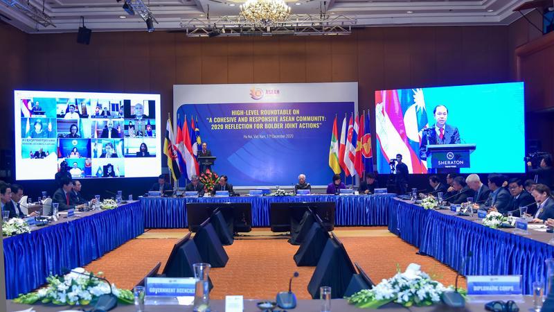 Tọa đàm nhìn lại năm Chủ tịch ASEAN 2020 của Việt Nam ngày 17/12 - Ảnh: Bộ Ngoại giao