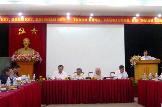 Tọa đàm liên quan đến vấn đề biển Đông của Mặt trận Tổ quốc Việt Nam.