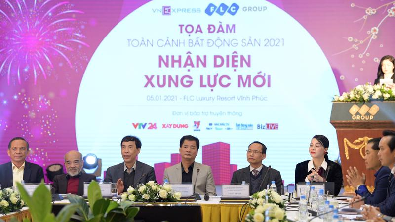 Các diễn giả cho rằng, thị trường bất động sản 2021 có nhiều cơ hội phát triển.
