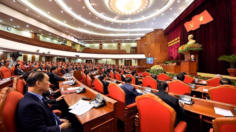 Quang cảnh phiên bế mạc Hội nghị Trung ương 13 (khóa XII). Ảnh: VGP
