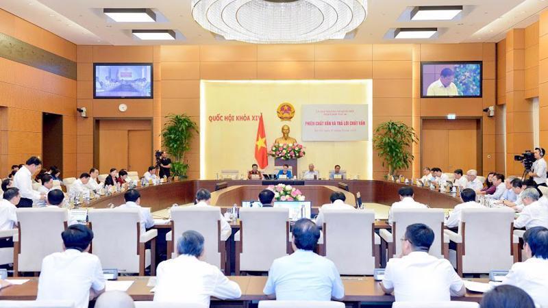 Phiên họp tháng 8 của Uỷ ban Thường vụ Quốc hội - Ảnh: QP