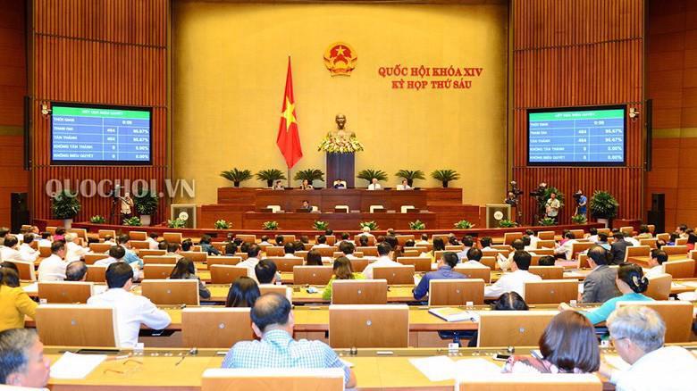Toàn cảnh phiên họp chiều 25/10, Quốc hội nghe kết quả lấy phiếu tín nhiệm.