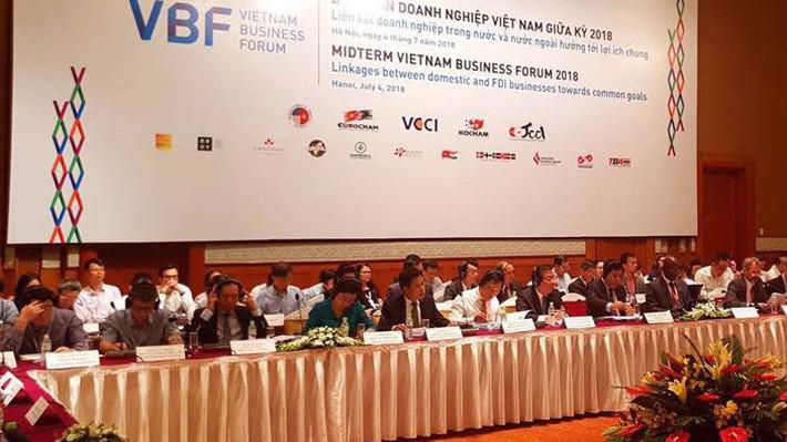 Diễn đàn Doanh nghiệp Việt Nam (VBF) được tổ chức mỗi năm hai kỳ. (Ảnh - VBF giữa kỳ 2018).
