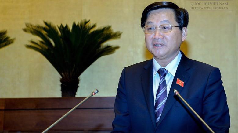 Tổng thanh tra Chính phủ Lê Minh Khái trình bày báo cáo tiếp thu, giải trình dự án Luật Phòng chống tham nhũng (sửa đổi).