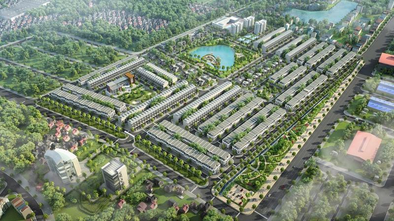 Phối cảnh tổng thể khu đô thị Kosy Bắc Giang.