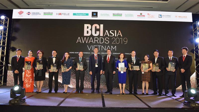 BCI Asia Award vinh danh Top 10 Chủ đầu tư hàng đầu Việt Nam 2019.