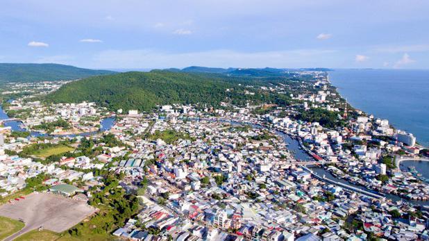 Một góc thành phố Phú Quốc, tỉnh Kiên Giang.