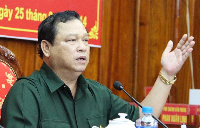 Chủ tịch UBND tỉnh Bình Phước Nguyễn Văn Trăm.<br>