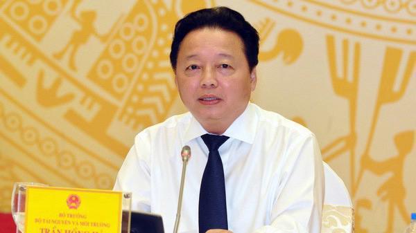 Bộ trưởng Trần Hồng Hà: Bộ Tài nguyên và Môi trường đã làm việc với Cục kiểm tra văn bản của Bộ Tư pháp và thống nhất lùi thực hiện khoản 5 Điều 6 tại Thông tư 33.