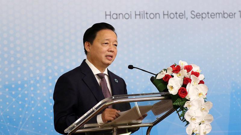 Bộ trưởng Trần Hồng Hà. Ảnh - Khương Trung.