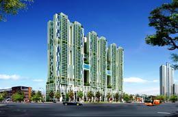 Phối cảnh tổng thể dự án Tricon Towers.