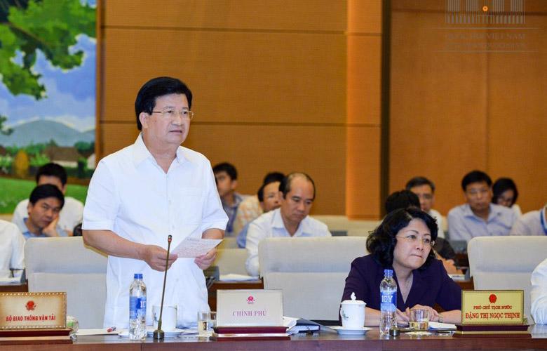 Phó thủ tướng Trịnh Đình Dũng phát biểu tại phiên giám sát.