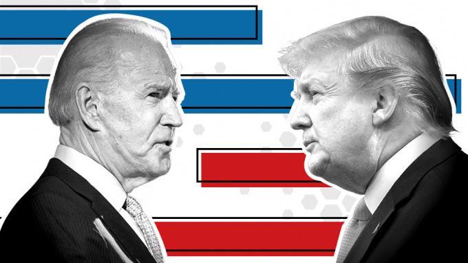 Hai ứng viên Joe Biden và Donald Trump - Ảnh: Eurasianew
