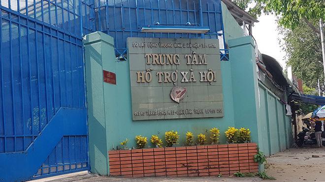 Trung tâm Hỗ trợ xã hội tại Tp Hồ Chí Minh nơi xảy ra sự việc. Ảnh - Thanh Niên.