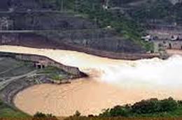 Vị trí xây dựng dự án thủy điện Trung Sơn.