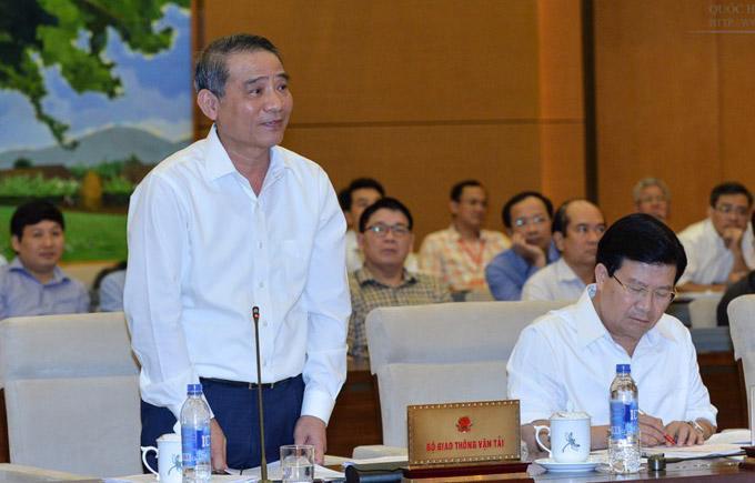 Bộ trưởng Bộ Giao thông Vận tải Trương Quang Nghĩa trình bày về dự án Cai Lậy.