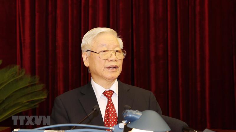 Tổng bí thư, Chủ tịch nước Nguyễn Phú Trọng phát biểu khai mạc Hội nghị. Ảnh: TTXVN.