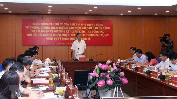 Đại tướng Tô Lâm yêu cầu Bộ Tài chính tiếp tục thu hồi tài sản bị chiếm đoạt, thất thoát trong các vụ án hình sự về tham nhũng, kinh tế trong thời gian tới.