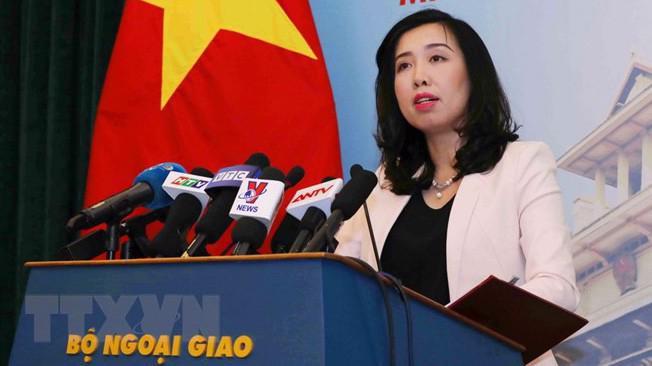 Người phát ngôn Bộ Ngoại giao Việt Nam Lê Thị Thu Hằng - Ảnh: TTXVN.