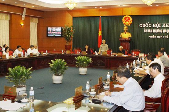 Phiên họp thứ 35 của Ủy ban Thường vụ Quốc hội đã bế mạc sáng 5/10.