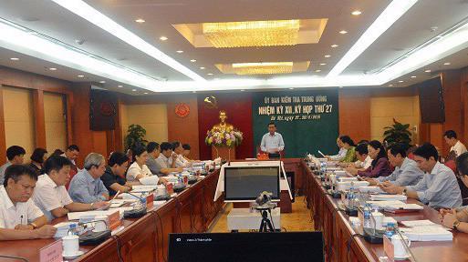 Kỳ họp 27 của Ủy ban Kiểm tra Trung ương.
