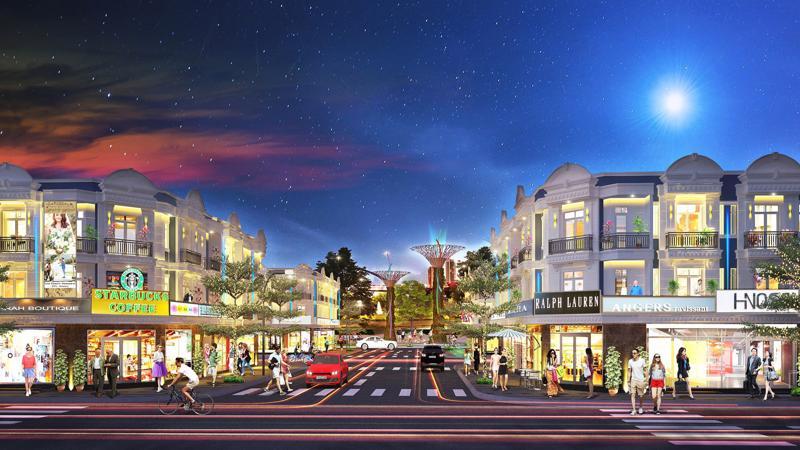 Phối cảnh dự kiến Uni Mall Center với định hướng phát triển thành một trung tâm kinh doanh sôi động tại thị xã Thuận An.