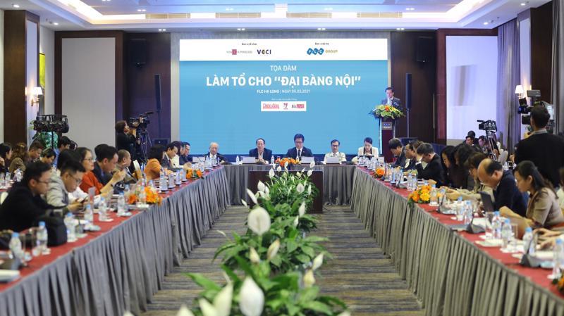 """Hội thảo """"Làm tổ cho đại bàng nội"""" diễn ra chiều 5/3 tại Quảng Ninh."""