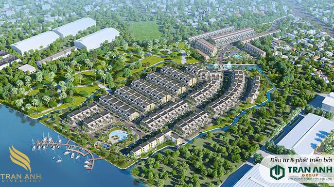"""Trần Anh Riverside không chỉ sở hữu ưu thế về vị trí """"3 mặt giáp sông, 1 mặt giáp lộ"""", đây còn là khu biệt thự kiểu mẫu."""