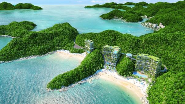 Phối cảnh dự án Flamingo Cát Bà Beach Resort.