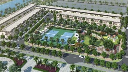 Sân tennis chuẩn quốc tế là tiện ích nổi bật của dự án Thăng Long Home - Hiệp Phước.
