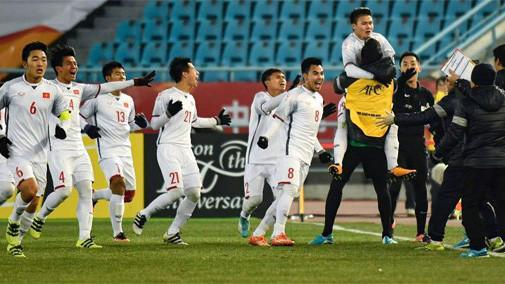 Chiến thắng của đội tuyển U23 Việt Nam làm nức lòng người hâm mộ - Ảnh: AFC.