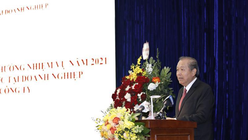 Phó thủ tướng Trương Hòa Bình phát biểu tại hội nghị.