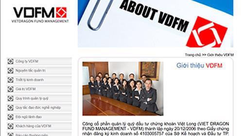 Trang web của VDFM.