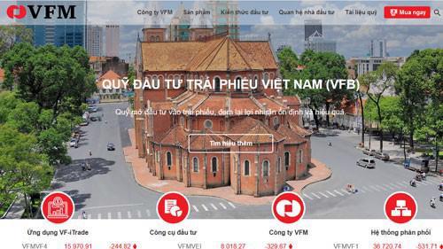Trang web của Công ty cổ phần quản lý quỹ đầu tư Việt Nam (VFM).