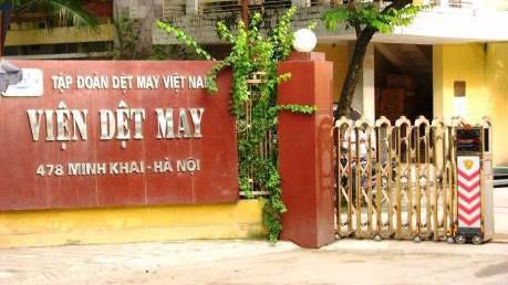 Trụ sở Viện Dệt may trên phố Minh Khai (Hai Bà Trưng, Hà Nội).