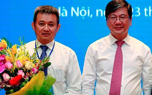 Tân Tổng giám đốc Vietnam Airlines, ông Dương Trí Thành (trái) và tân Chủ tịch Phạm Ngọc Minh.<div><br></div>