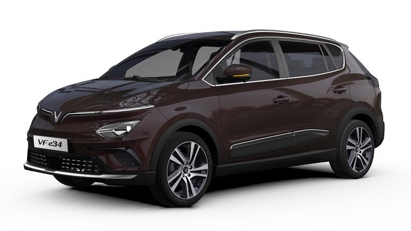 VinFast VF e34 là mẫu ô tô điện thuộc phân khúc C, tương đương với các mẫu xe cùng hạng trên thị trường hiện nay như Honda CR-V, Hyundai Tucson, Mazda CX-5, Mitsubishi Outlander hay Subaru Forester.