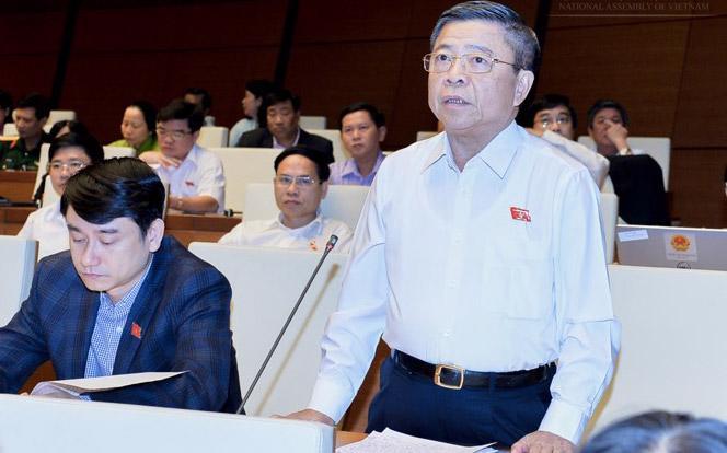 Ông Võ Kim Cự trong một phiên họp Quốc hội.<br>