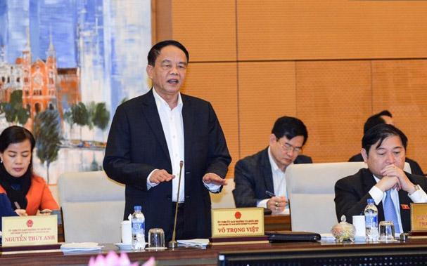 Chủ nhiệm Uỷ ban Quốc phòng - An ninh của Quốc hội, ông Võ Trọng Việt.